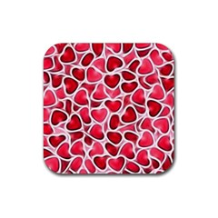 Candy Hearts Drink Coaster (square)