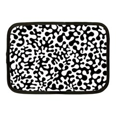 Black And White Blots Netbook Sleeve (medium) by KirstenStar