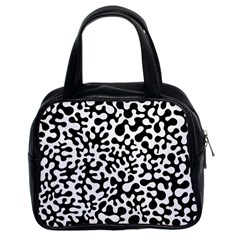 Black And White Blots Classic Handbag (two Sides) by KirstenStar