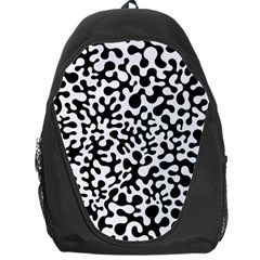 Black And White Blots Backpack Bag by KirstenStar