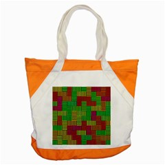 Colorful Stripes And Squares Accent Tote Bag by LalyLauraFLM
