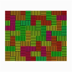 Colorful Stripes And Squares Small Glasses Cloth (2 Sides) by LalyLauraFLM