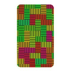 Colorful Stripes And Squares Memory Card Reader (rectangular) by LalyLauraFLM