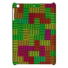 Colorful Stripes And Squares Apple Ipad Mini Hardshell Case by LalyLauraFLM