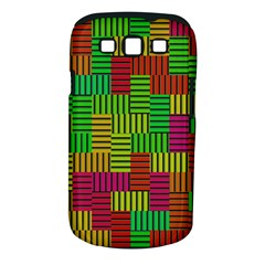 Colorful Stripes And Squares Samsung Galaxy S Iii Classic Hardshell Case (pc+silicone) by LalyLauraFLM