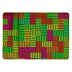 Colorful Stripes And Squares Samsung Galaxy Tab 10 1  P7500 Flip Case by LalyLauraFLM