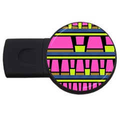 Trapeze And Stripes Usb Flash Drive Round (4 Gb)