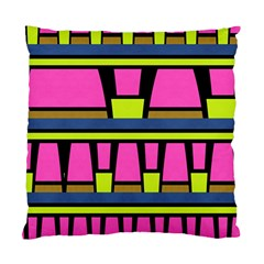 Trapeze And Stripes Standard Cushion Case (two Sides) by LalyLauraFLM
