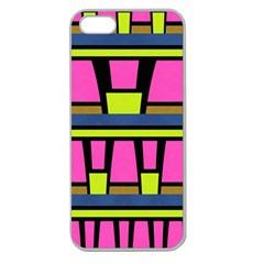 Trapeze And Stripes Apple Seamless Iphone 5 Case (clear) by LalyLauraFLM