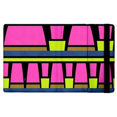 Trapeze And Stripes Apple Ipad 2 Flip Case by LalyLauraFLM