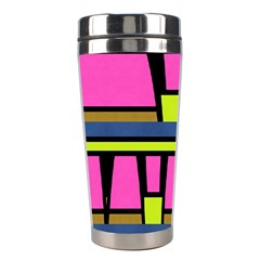 Trapeze And Stripes Stainless Steel Travel Tumbler by LalyLauraFLM