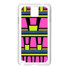 Trapeze And Stripes Samsung Galaxy Note 3 N9005 Case (white) by LalyLauraFLM