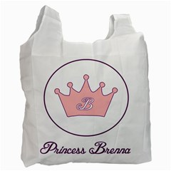 Princess Brenna2 Fw White Reusable Bag (one Side) by brennastore