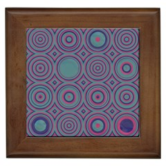 Concentric Circles Pattern Framed Tile by LalyLauraFLM