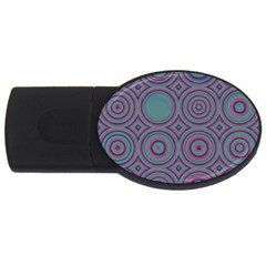 Concentric Circles Pattern Usb Flash Drive Oval (4 Gb) by LalyLauraFLM