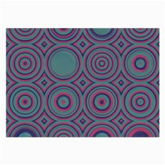 Concentric Circles Pattern Large Glasses Cloth (2 Sides) by LalyLauraFLM
