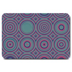 Concentric Circles Pattern Large Doormat by LalyLauraFLM