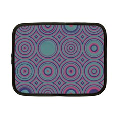 Concentric Circles Pattern Netbook Case (small) by LalyLauraFLM