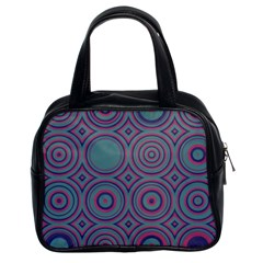 Concentric Circles Pattern Classic Handbag (two Sides) by LalyLauraFLM