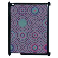 Concentric Circles Pattern Apple Ipad 2 Case (black) by LalyLauraFLM