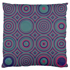 Shapes In Retro Colors Large Cushion Case (two Sides) by LalyLauraFLM