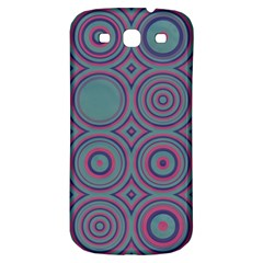 Shapes In Retro Colors Samsung Galaxy S3 S Iii Classic Hardshell Back Case by LalyLauraFLM