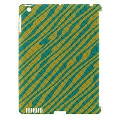 Blue Yellow Waves Apple Ipad 3/4 Hardshell Case (compatible With Smart Cover) by LalyLauraFLM