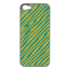 Blue Yellow Waves Apple Iphone 5 Case (silver) by LalyLauraFLM