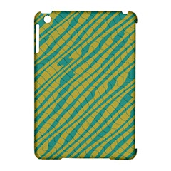 Blue Yellow Waves Apple Ipad Mini Hardshell Case (compatible With Smart Cover) by LalyLauraFLM