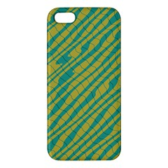 Blue Yellow Waves Iphone 5s Premium Hardshell Case by LalyLauraFLM