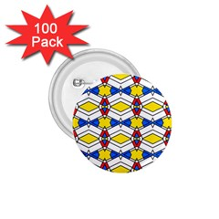Colorful Rhombus Chains 1 75  Button (100 Pack)