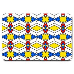 Colorful Rhombus Chains Large Doormat
