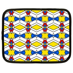 Colorful Rhombus Chains Netbook Case (xl) by LalyLauraFLM