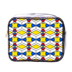 Colorful Rhombus Chains Mini Toiletries Bag (one Side) by LalyLauraFLM