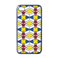 Colorful Rhombus Chains Apple Iphone 4 Case (black) by LalyLauraFLM