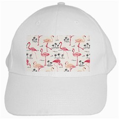 Flamingo Pattern White Cap by Contest580383