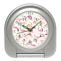 Flamingo Pattern Travel Alarm Clocks by Contest580383