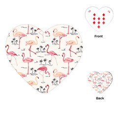 Flamingo Pattern Playing Cards (heart)  by Contest580383