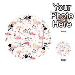 Flamingo Pattern Playing Cards 54 (Round)