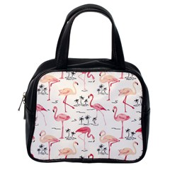 Flamingo Pattern Classic Handbags (one Side) by Contest580383