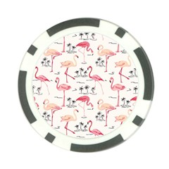 Flamingo Pattern Poker Chip Card Guards (10 pack)