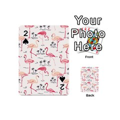 Flamingo Pattern Playing Cards 54 (mini)  by Contest580383
