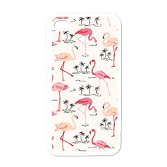 Flamingo Pattern Apple Iphone 4 Case (white) by Contest580383