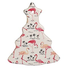 Flamingo Pattern Christmas Tree Ornament (2 Sides)