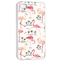 Flamingo Pattern Apple iPhone 4/4s Seamless Case (White)