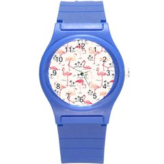 Flamingo Pattern Round Plastic Sport Watch (s) by Contest580383