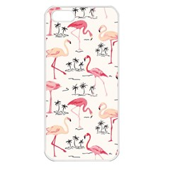 Flamingo Pattern Apple iPhone 5 Seamless Case (White)