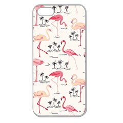Flamingo Pattern Apple Seamless iPhone 5 Case (Clear)