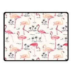 Flamingo Pattern Double Sided Fleece Blanket (small)  by Contest580383