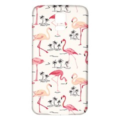 Flamingo Pattern Samsung Galaxy S5 Back Case (White)